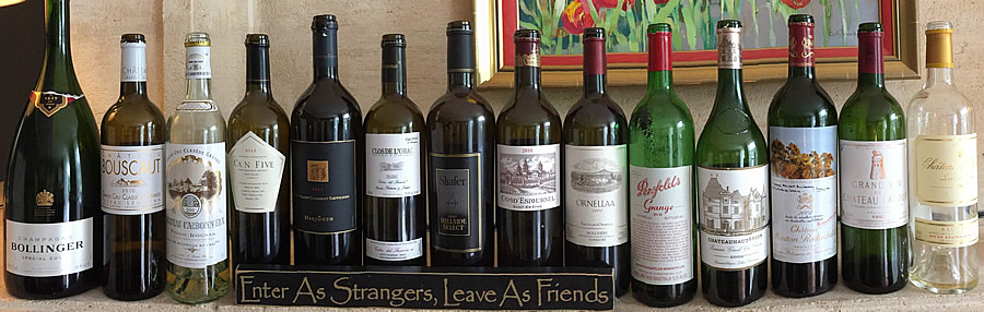 Wines tasted on the 2June 2018 Bordeaux Grand Cru Tour 1 at the Farewell dinner at Coulon Laurensac