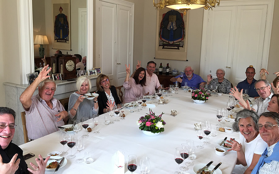 The 2018 June Grand Cru Tour 1, enjoying another private Chateau Lunch