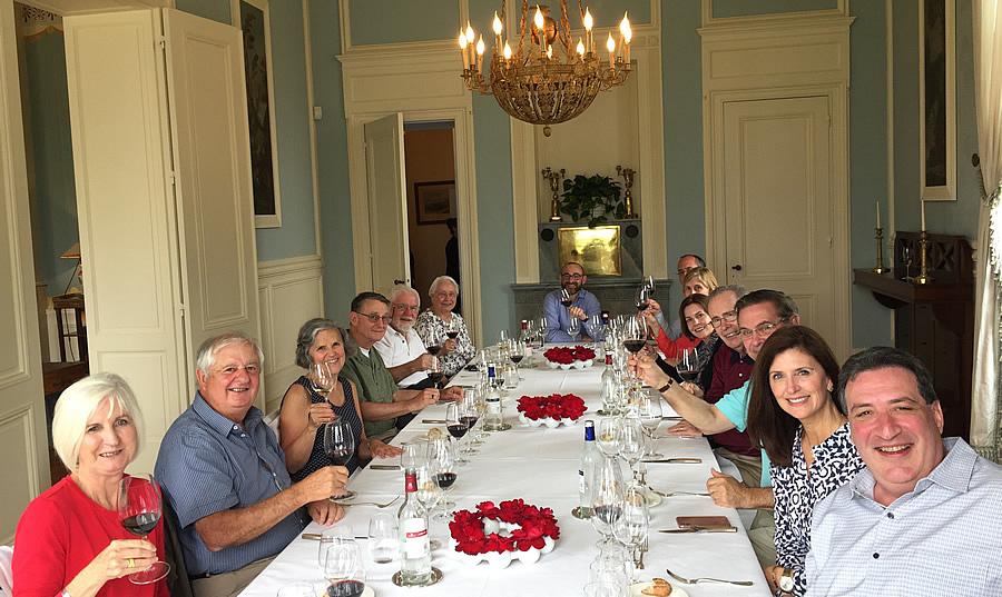 The 2018 June Grand Cru Tour 1, enjoying a private Chateau Lunch