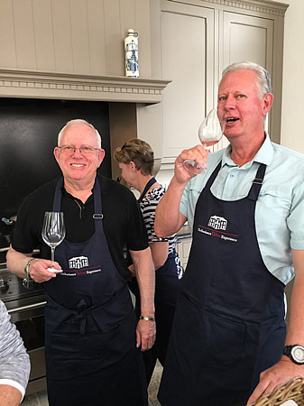 Cooking in the kitchen of Chateau Coulon Laurensac on the 2017 October Grand Cru Harvest Tour is an unforgettable experience