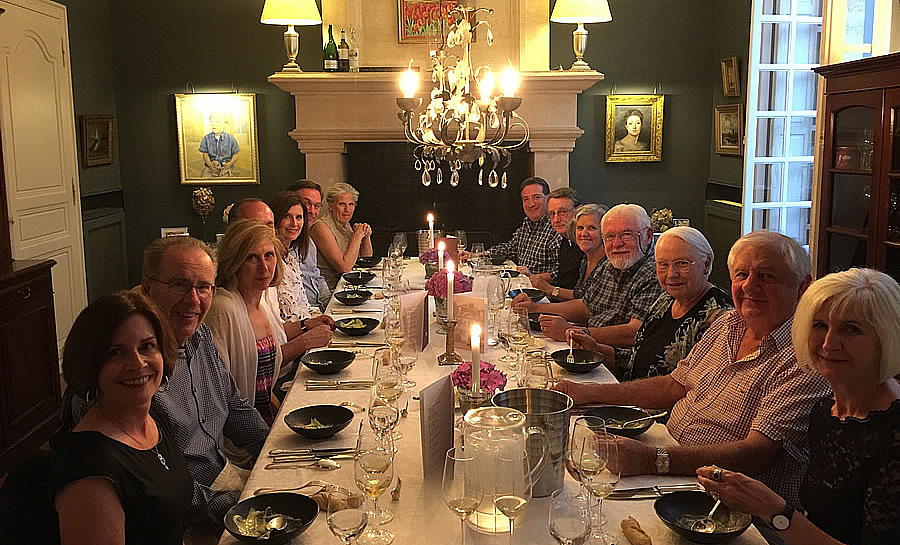 The 2018 June Grand Cru Tour 1, enjoying First Growths at the Farewell dinner at Chateau Coulon Laurensac