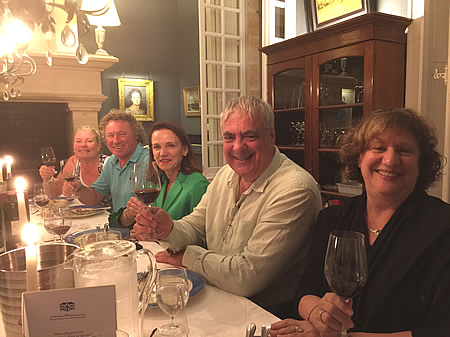 The 2017 June-July Bordeaux Grand Cru Tour comparing First Growths at the Farewell dinner at Chateau Coulon Laurensac
