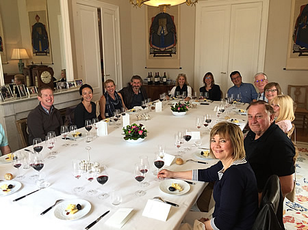 The 2018 May Grand Tour enjoying a private Chateau Lunch