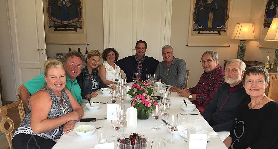 The 2017 June-July Bordeaux Grand Cru Tour enjoying an exlusive and private lunch at a Classified Growth