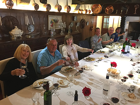 The 2018 May Grand Tour enjoying a private Lunch at a Classified Growth