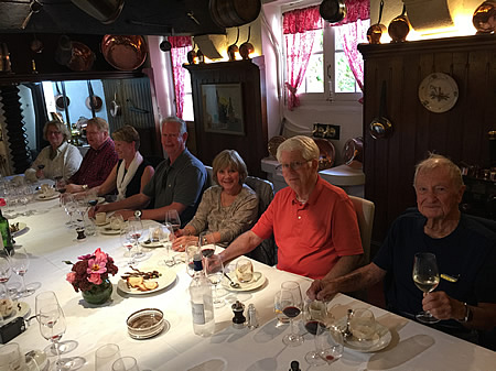 Enjoying a private Chateau Lunch on the 2017 October Grand Cru Harvest Tour