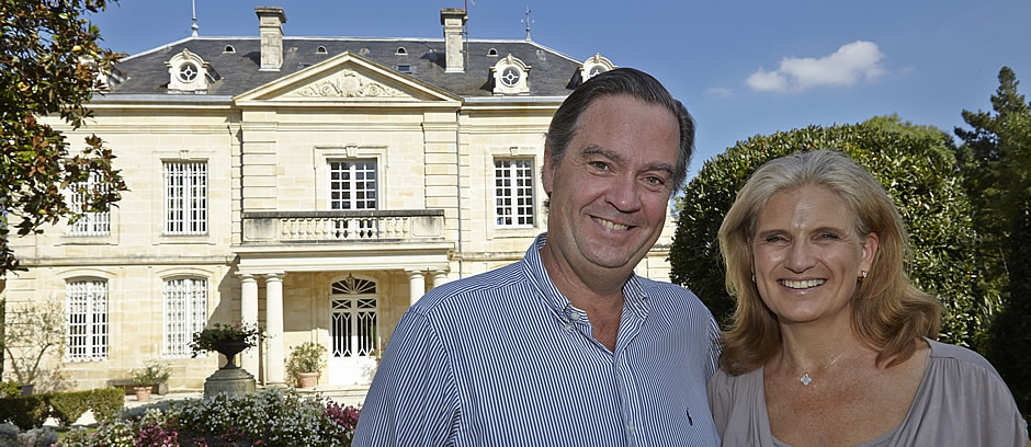 Ronald and Margaret love to welcome you at their Chateau