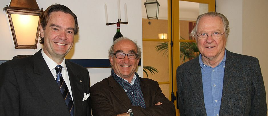 With Baron Eric de Rothschild and Charles Chevalier (Lafite Rothschild)