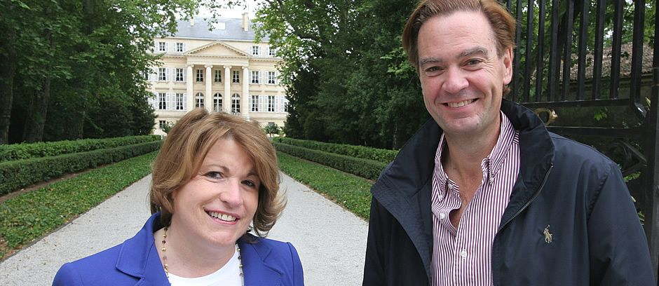 With Corinne Mentzelopoulos (Chateau Margaux)