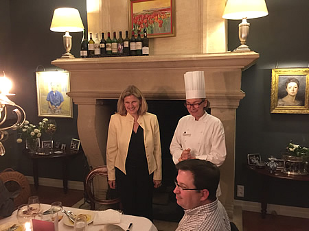 Well earned praise for the chef of the Farewell dinner at Chateau Coulon Laurensac (May 2017)