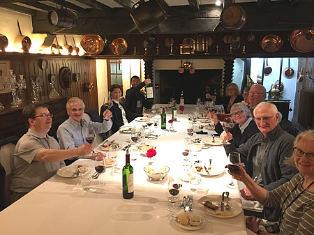 The 2017 May Grand Tour enjoying a private Chateau Lunch
