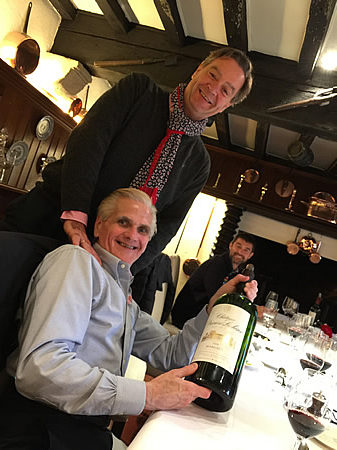Men behaving badly over a long chateau-lunch on the May 2017 Grand Tour of Bordeaux