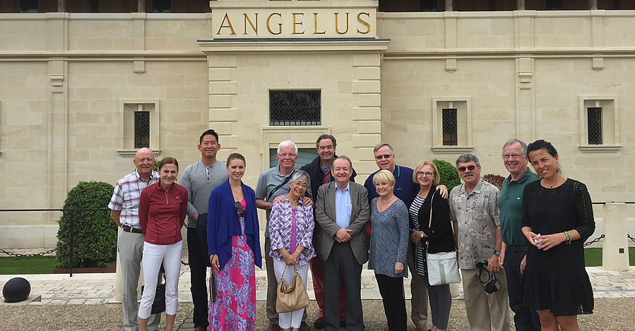 The Bordeaux Wine Experience 2017 June Grand Cru Tour Tasting at Angelus with the owner