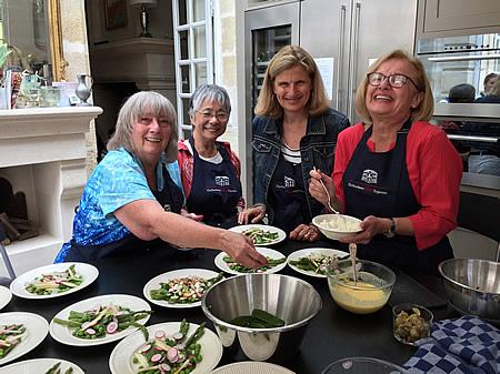 Great fun on the 2017 June Grand Cru Tour cooking class