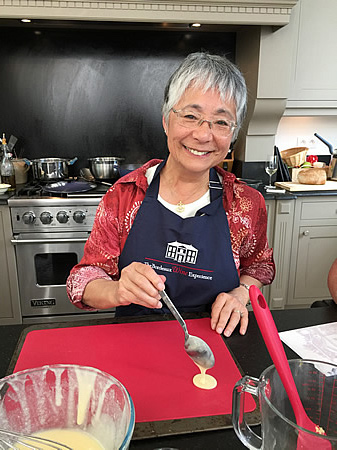 Cooking in Margaret's Chateau Kitchen, June 2017 Grand Cru Tour