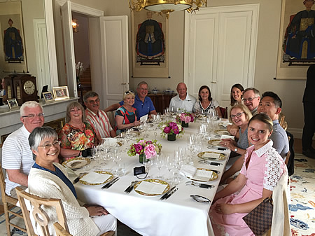 The 2017 June Grand Cru Tour enjoying a private Chateau Lunch at a Classified Growth