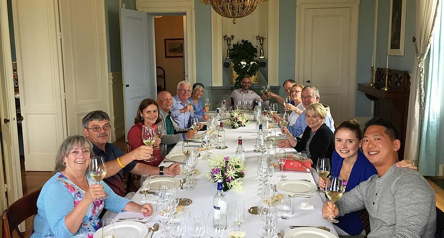 The 2017 June Grand Cru Tour enjoying a private Chateau Lunch