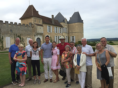 2017 June Bordeaux Grand Cru Tour after a tasting at Superior First Growth Yquem