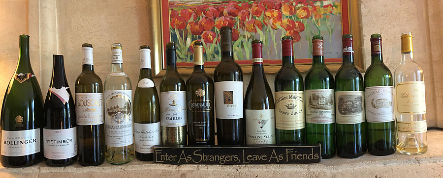 Wines tasted on the 2018 June II Grand Cru Tour at the Farewell dinner at Coulon Laurensac
