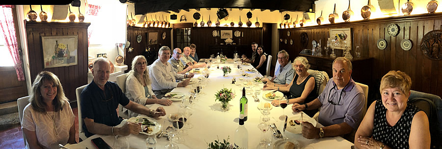 The 2018 June II Bordeaux Grand Cru Tour enjoying yet another private Chateau Lunch
