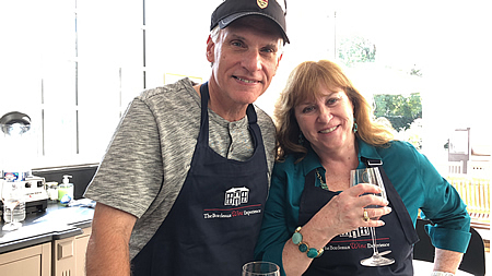 Cooking class in the kitchen of Chateau Coulon Laurensac on The 2018 Bordeaux Grand Cru Harvest Tour I