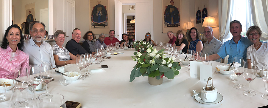 The 2018 Bordeaux Grand Cru Harvest Tour I enjoying yet another private Chateau Lunch