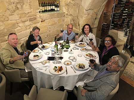 The 2018 Bordeaux Grand Cru Harvest Tour I savoring an exquisite lunch in Saint Emilion