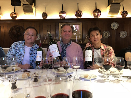 Ronald behaving badly with his guests on the 2018 Bordeaux Grand Cru Harvest Tour II