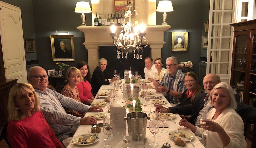 The 2019 May Grand Tour enjoying First Growths at the Farewell dinner at Chateau Coulon Laurensac