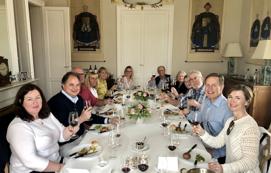 The 2019 May Grand Tour enjoying a private Lunch at a Classified Growth