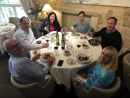 The 2019 May Grand Tour enjoying a lovely lunch in Saint Emilion