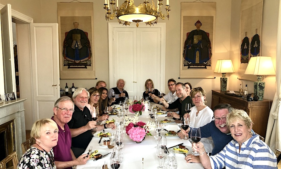The 2019 June Grand Cru Tour 1, enjoying a private Chateau Lunch
