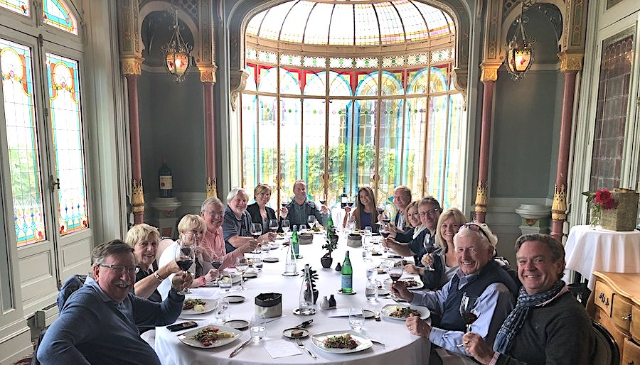 The 2019 June Grand Cru Tour 1, enjoying yet another private Chateau Lunch
