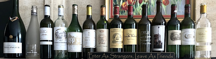 Wines tasted on the June 2019 Bordeaux Grand Cru Tour 1 at the Farewell dinner at Coulon Laurensac