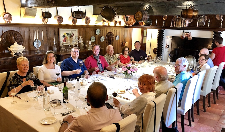 The 2019 June Grand Cru Tour 2, enjoying a private Chateau Lunch