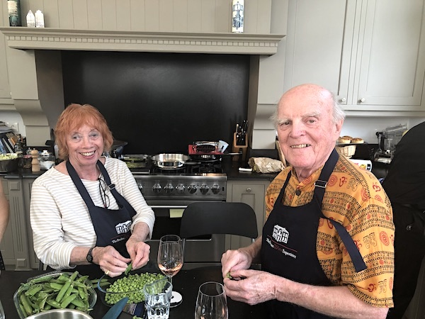 The June 2019 Grand Cru Tour 2 enjoying cooking together