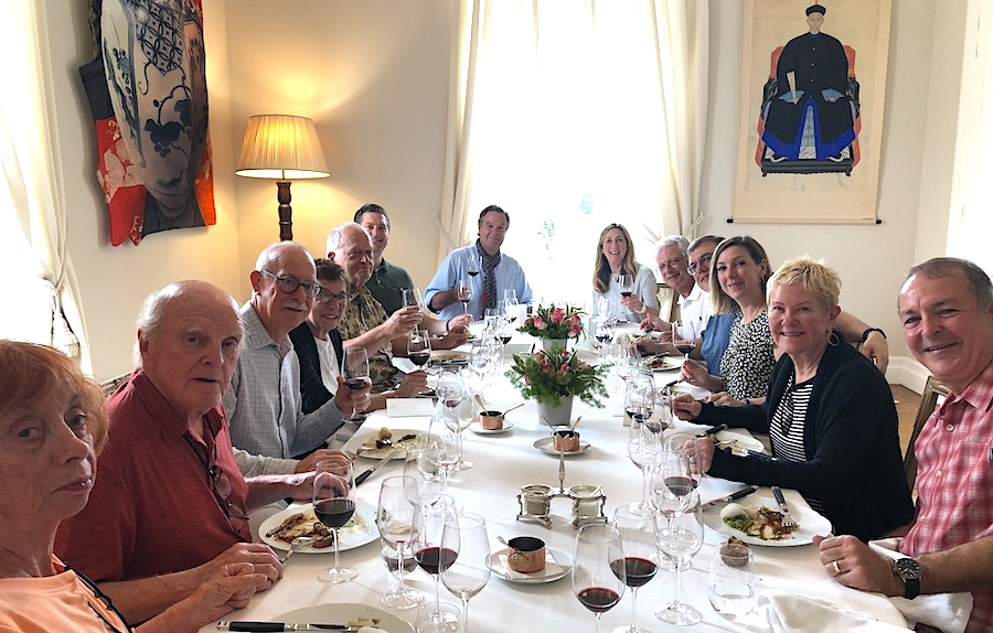 The 2019 June Grand Cru Tour 2, enjoying yet another private Chateau Lunch