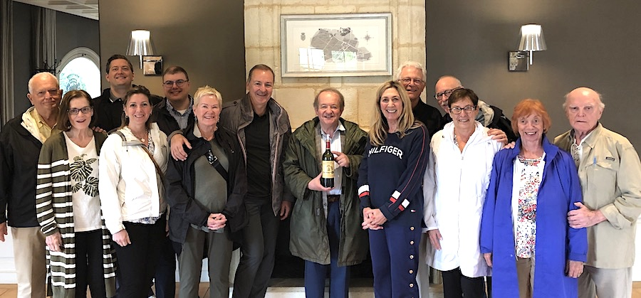 """The 2019 June Grand Cru Tour 2 tasting at First Growths """"A"""" Angelus with the owner"""