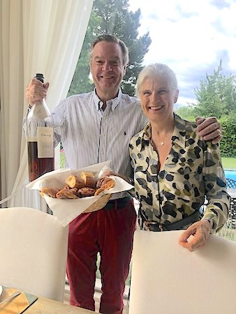 Ronald and Margaret your hosts on the 2019 June Grand Cru Tour 1