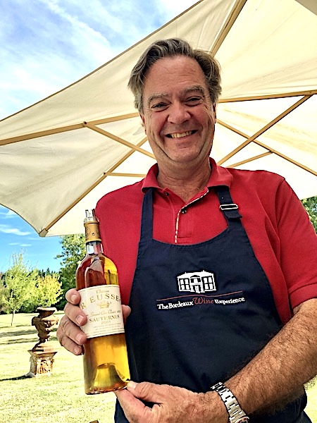 Ronald doing what he does best on the 2019 Bordeaux Harvest Tour I