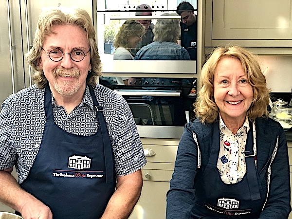 Cooking class in the kitchen of Chateau Coulon Laurensac on The 2019 Bordeaux Grand Cru Harvest Tour I