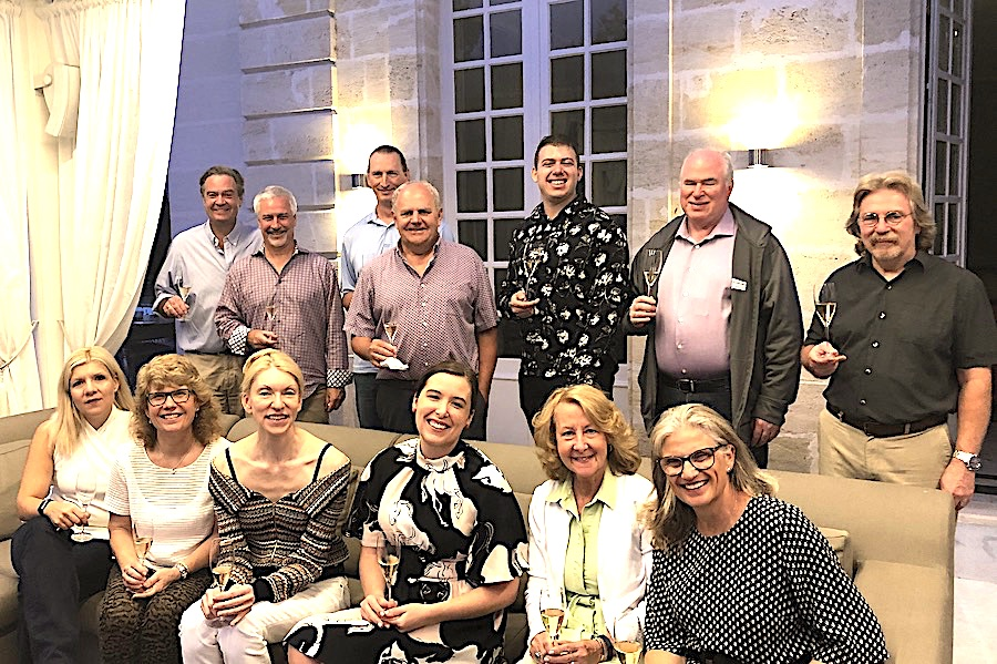 The 2019 Bordeaux Grand Cru Harvest Tour I enjoying First Growths at the Farewell dinner at Chateau Coulon Laurensac