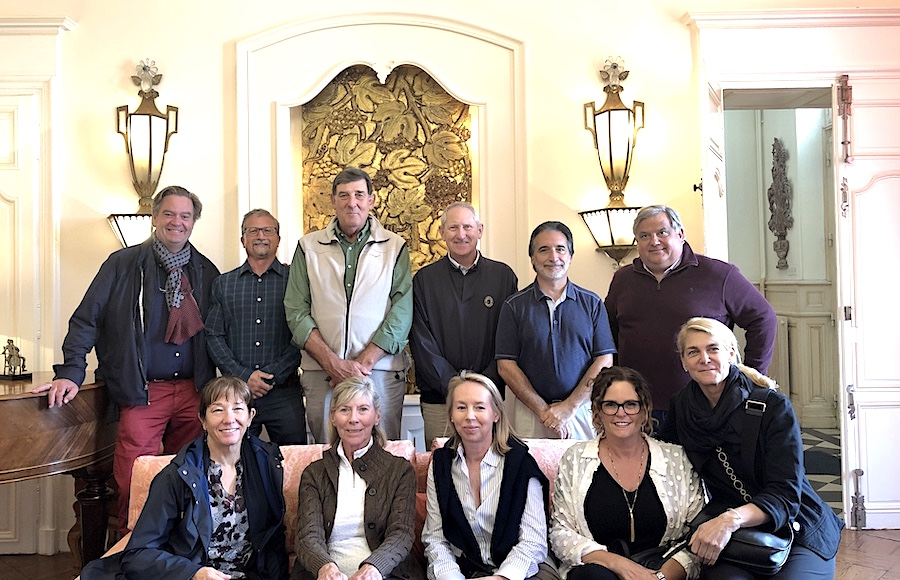 The 2019 Bordeaux Grand Cru Harvest Tour 2 indulging in a private Chateau Lunch