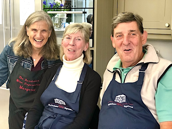 Cooking action on the 2019 Bordeaux Harvest Tour 2