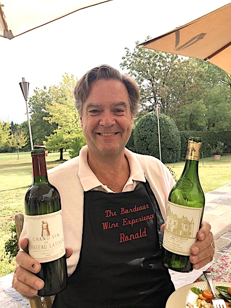 Ronald doing what he does best on the 2019 Bordeaux Harvest Tour 2