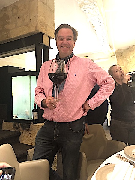 Ronald too, behaving badly (and having fun) on the 2019 Bordeaux Harvest Tour 2