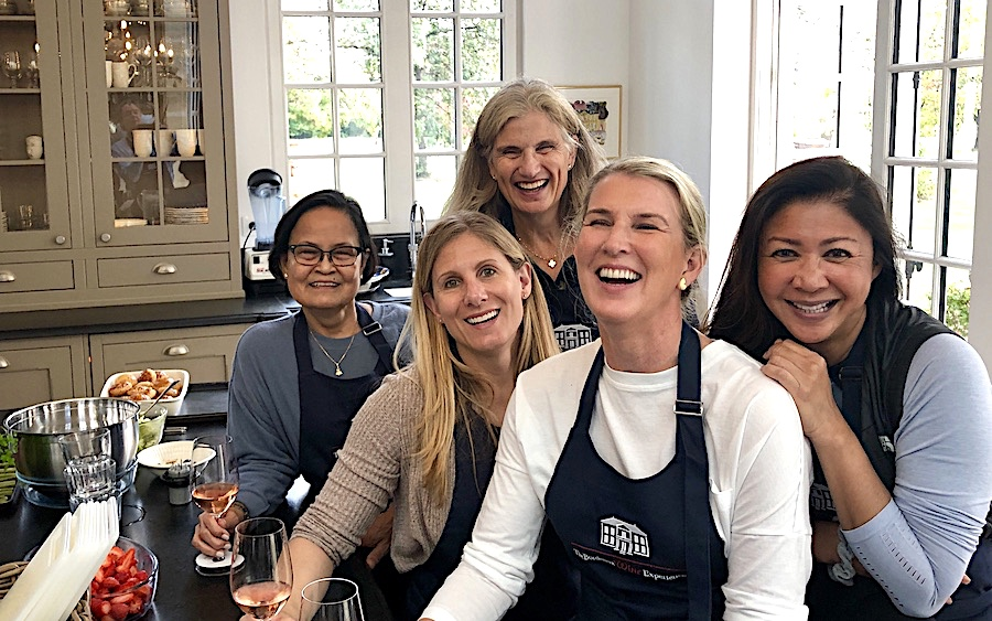 Cooking class in the kitchen of Chateau Coulon Laurensac on the 2019 Bordeaux Grand Cru Harvest Tour 3 is an unforgettable experience